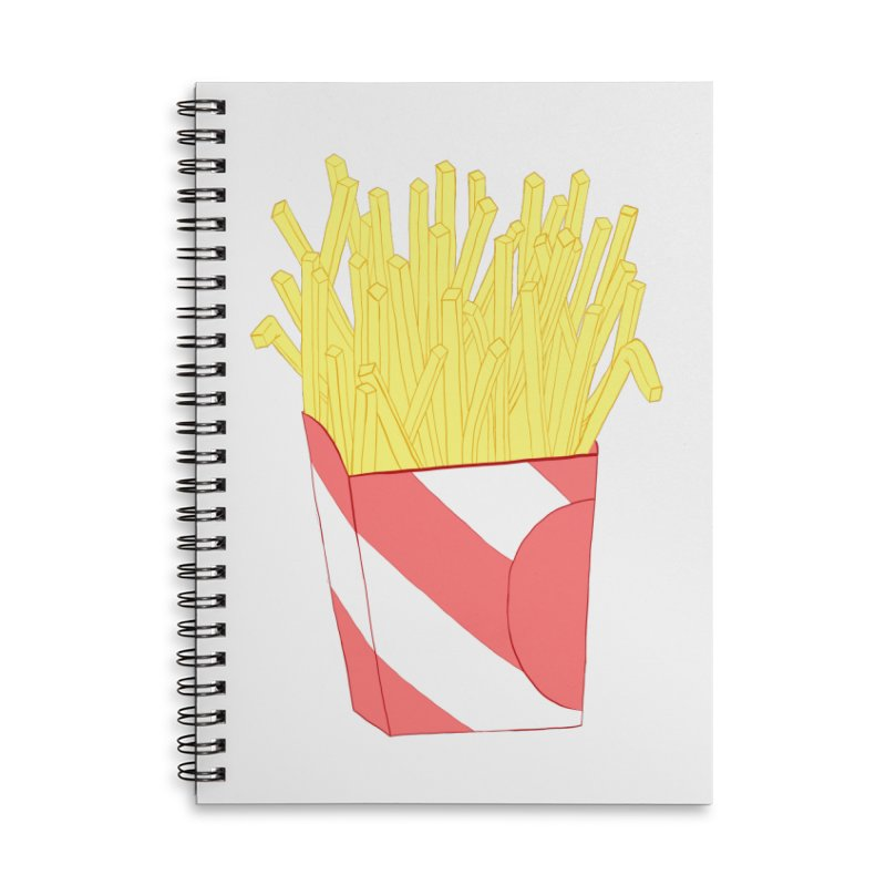 Fries Accessories Lined Spiral Notebook by Hello Siyi