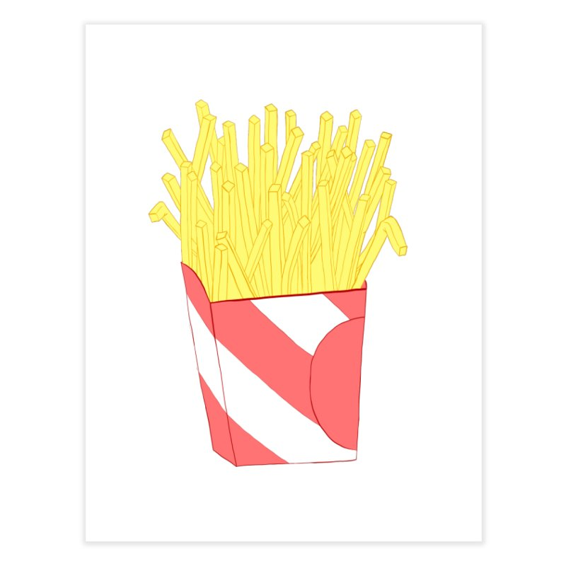 Fries Home Fine Art Print by Hello Siyi