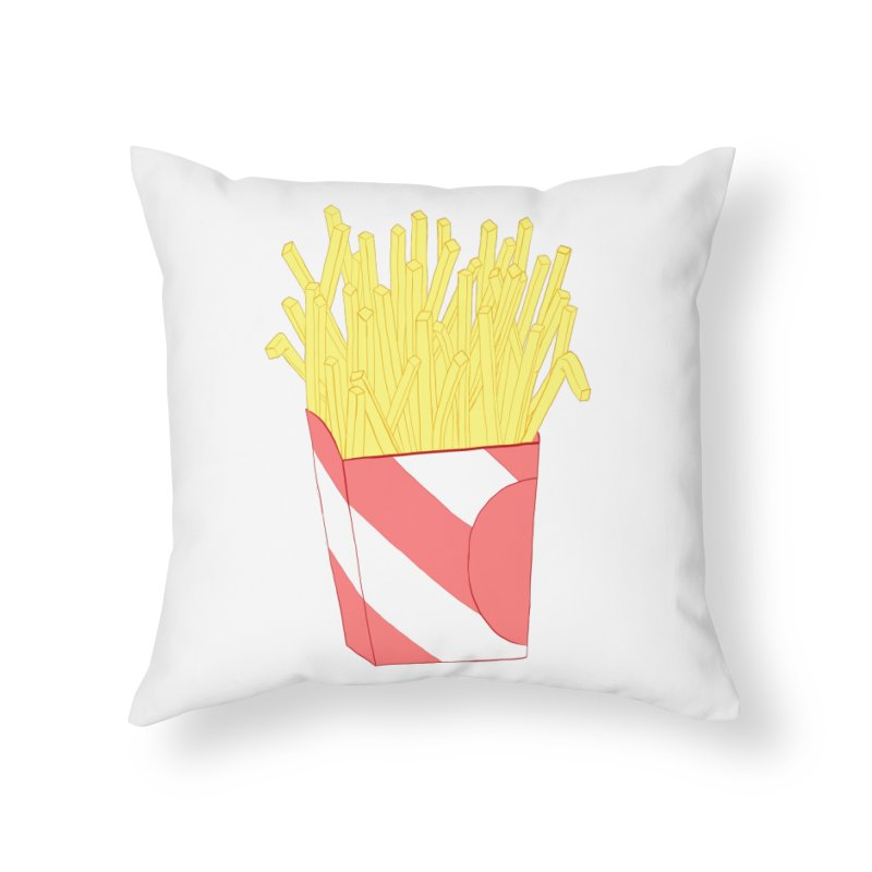 Fries Home Throw Pillow by Hello Siyi