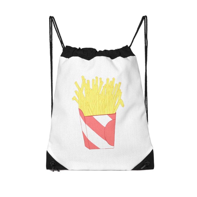 Fries Accessories Drawstring Bag Bag by Hello Siyi