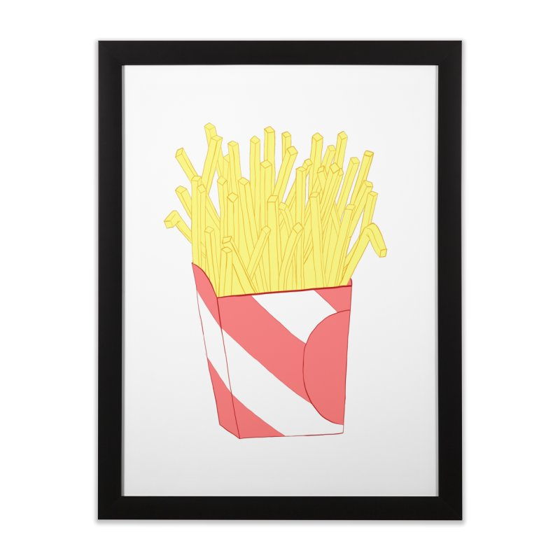 Fries Home Framed Fine Art Print by Hello Siyi