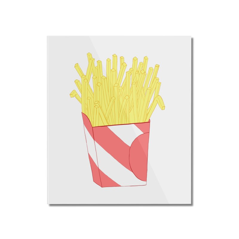 Fries Home Mounted Acrylic Print by Hello Siyi