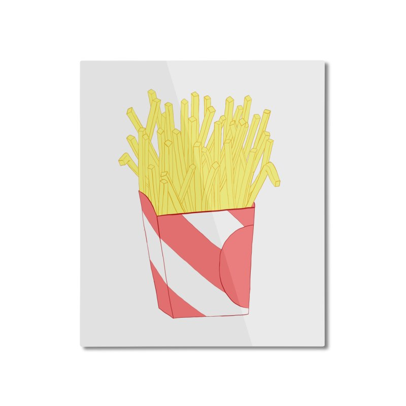 Fries Home Mounted Aluminum Print by Hello Siyi