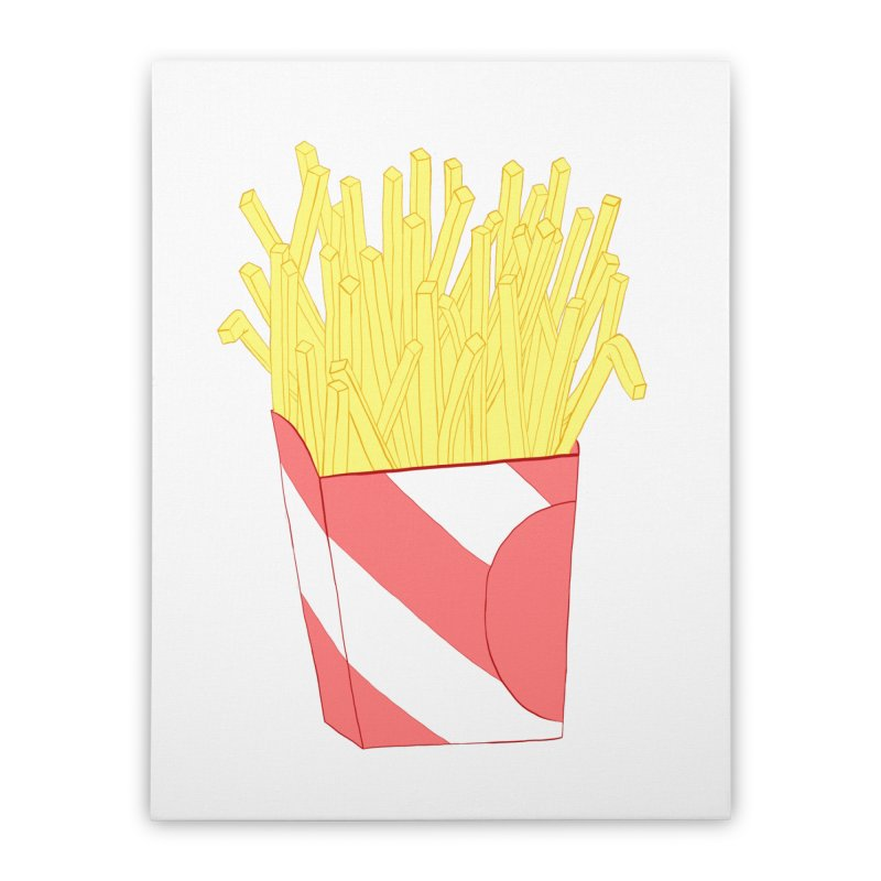 Fries Home Stretched Canvas by Hello Siyi