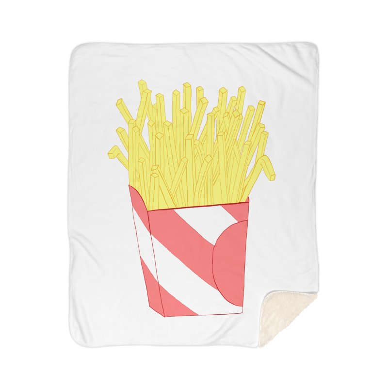 Fries Home Sherpa Blanket Blanket by Hello Siyi
