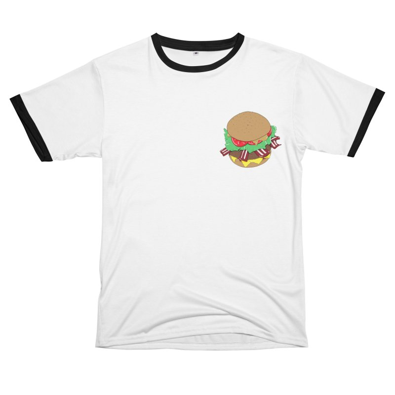 Burger Men's Cut & Sew by Hello Siyi