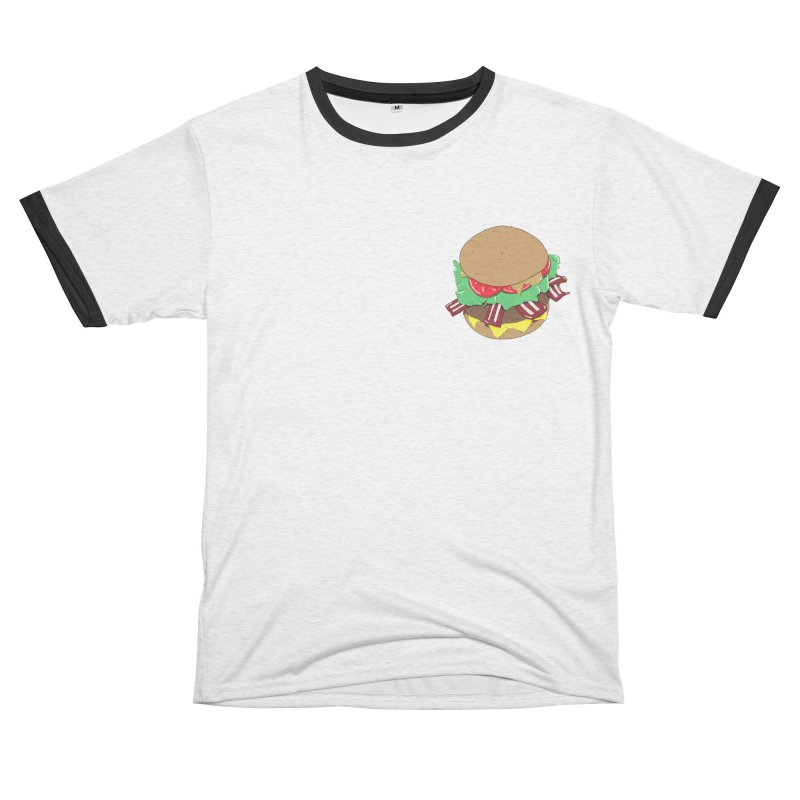 Burger Women's Unisex French Terry T-Shirt Cut & Sew by Hello Siyi