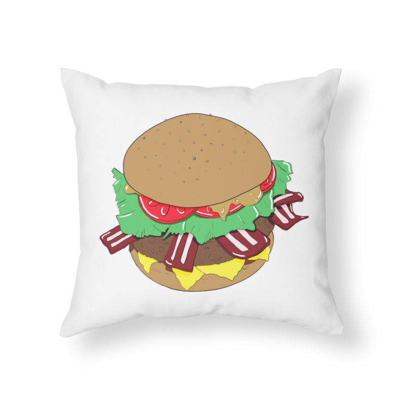 Burger Home Throw Pillow by Hello Siyi