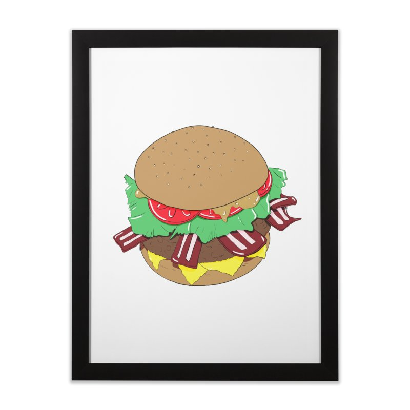 Burger Home Framed Fine Art Print by Hello Siyi