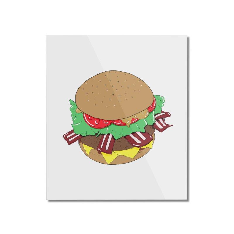 Burger Home Mounted Acrylic Print by Hello Siyi