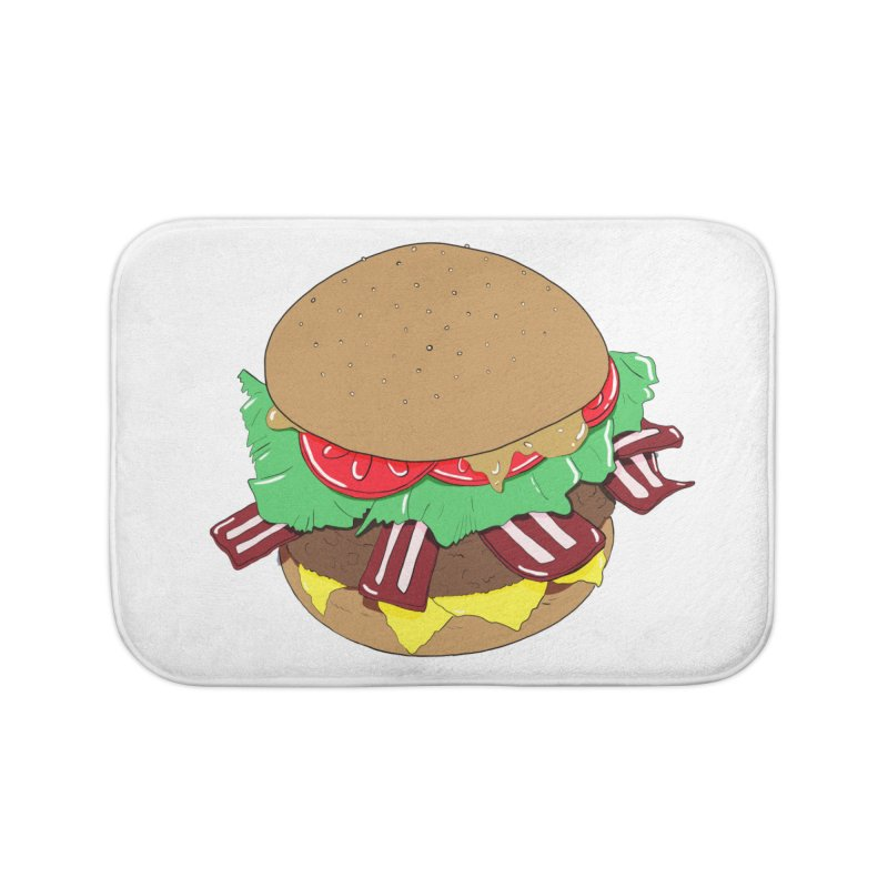 Burger Home Bath Mat by Hello Siyi