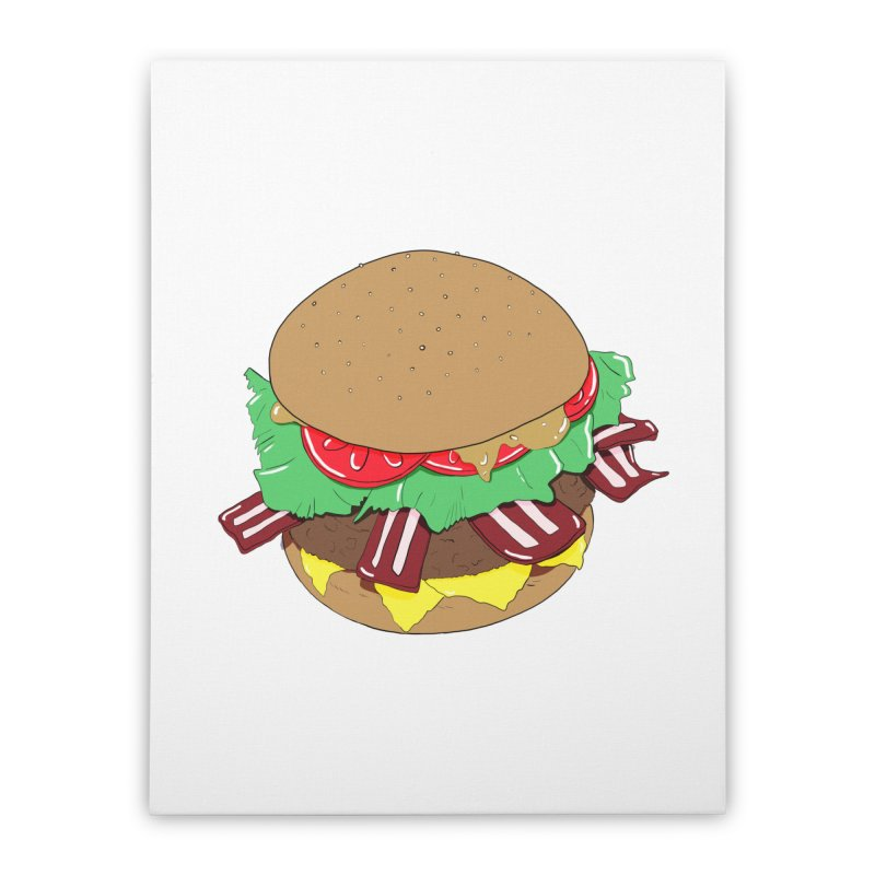Burger Home Stretched Canvas by Hello Siyi