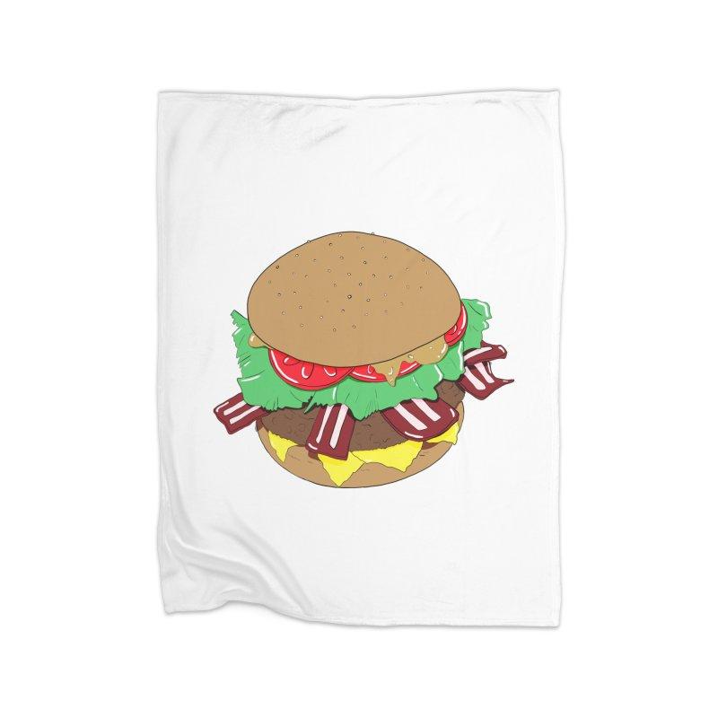 Burger Home Fleece Blanket Blanket by Hello Siyi