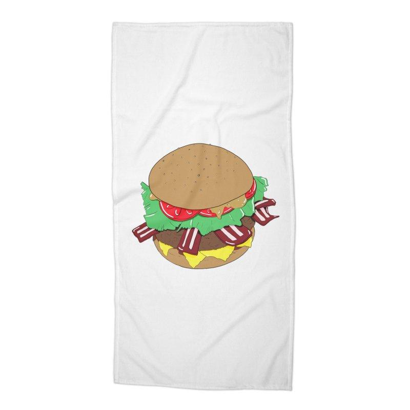 Burger Accessories Beach Towel by Hello Siyi