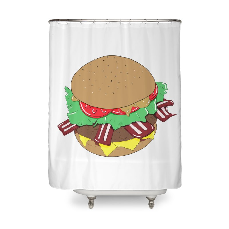 Burger Home Shower Curtain by Hello Siyi