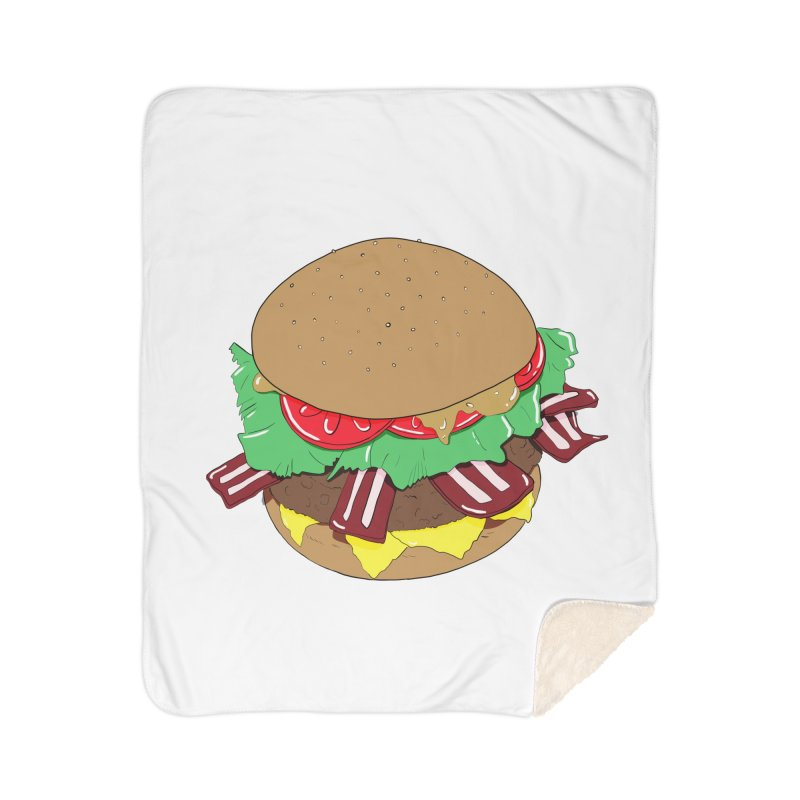 Burger Home Sherpa Blanket Blanket by Hello Siyi