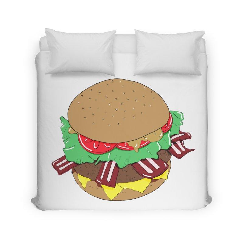 Burger Home Duvet by Hello Siyi