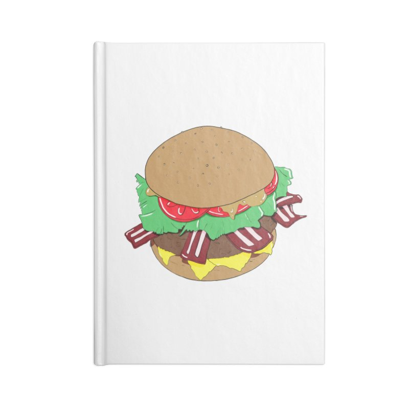 Burger Accessories Blank Journal Notebook by Hello Siyi