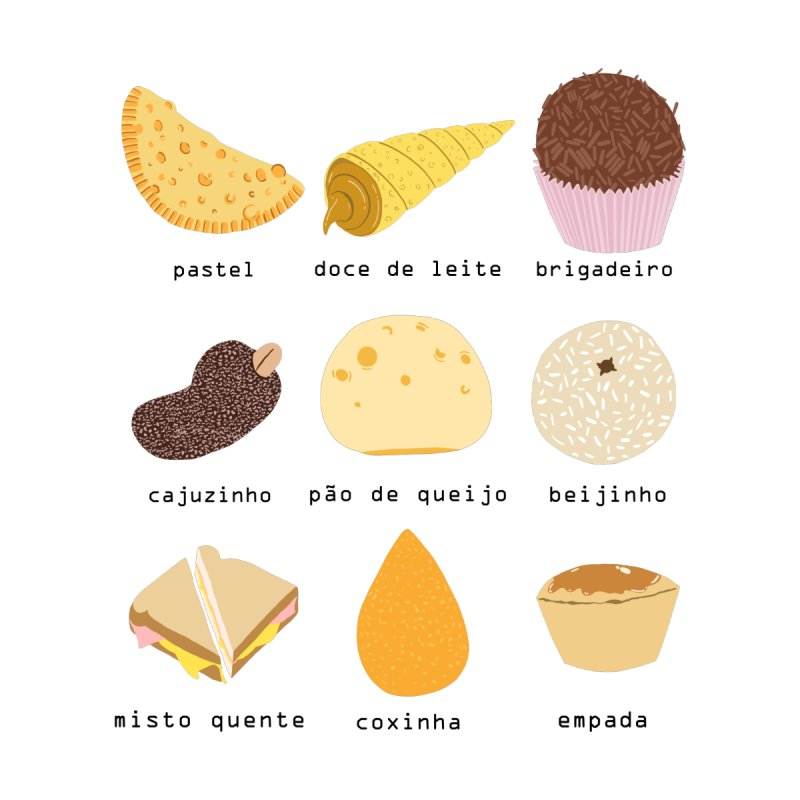 Brazilian snacks Accessories Sticker by Hello Siyi