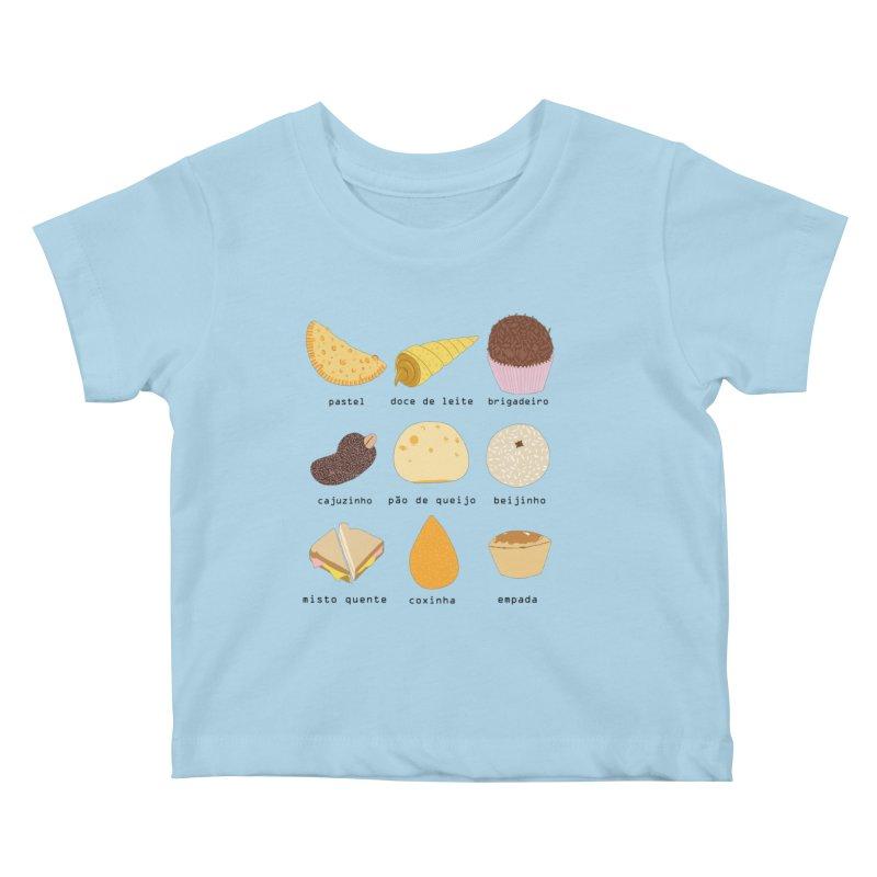 Brazilian snacks Kids Baby T-Shirt by Hello Siyi