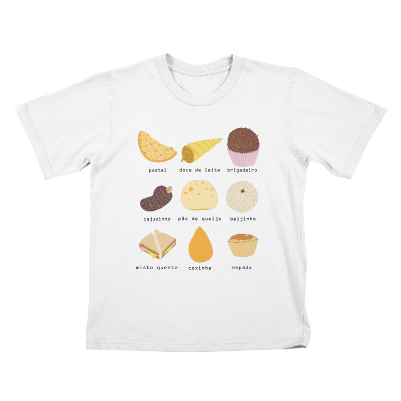 Brazilian snacks Kids T-Shirt by Hello Siyi