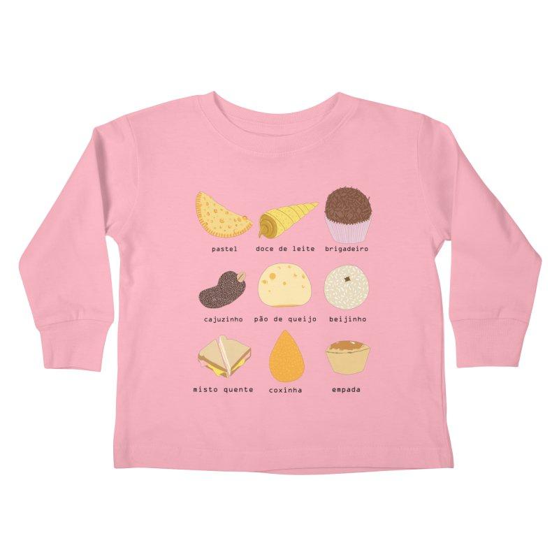 Brazilian snacks Kids Toddler Longsleeve T-Shirt by Hello Siyi