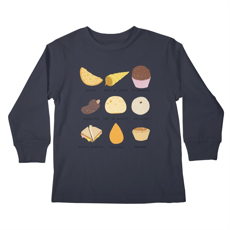Brazilian snacks Kids Longsleeve T-Shirt by Hello Siyi