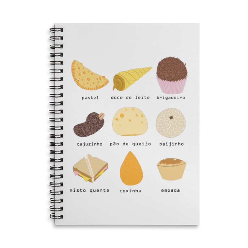 Brazilian snacks Accessories Lined Spiral Notebook by Hello Siyi