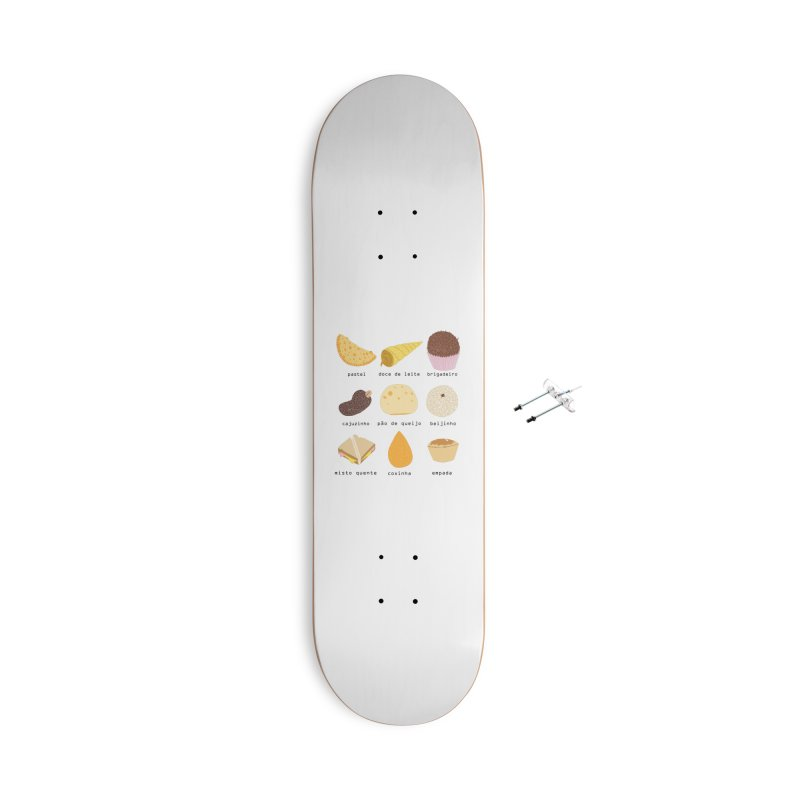 Brazilian snacks Accessories With Hanging Hardware Skateboard by Hello Siyi