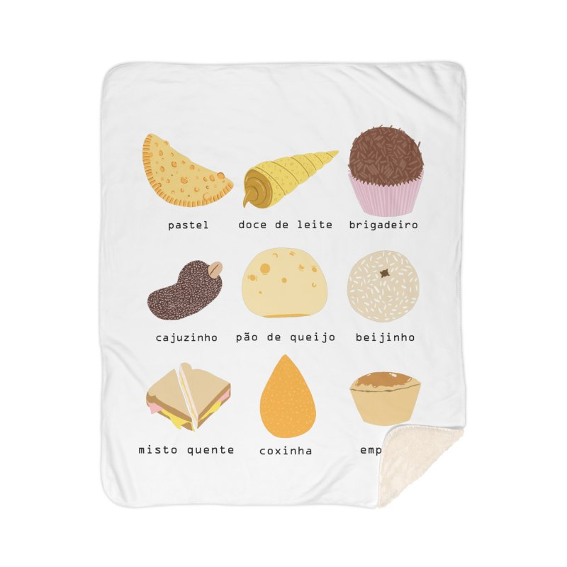 Brazilian snacks Home Sherpa Blanket Blanket by Hello Siyi