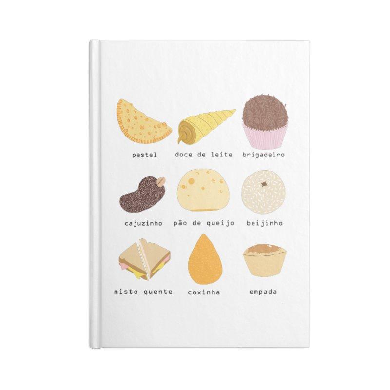 Brazilian snacks Accessories Blank Journal Notebook by Hello Siyi