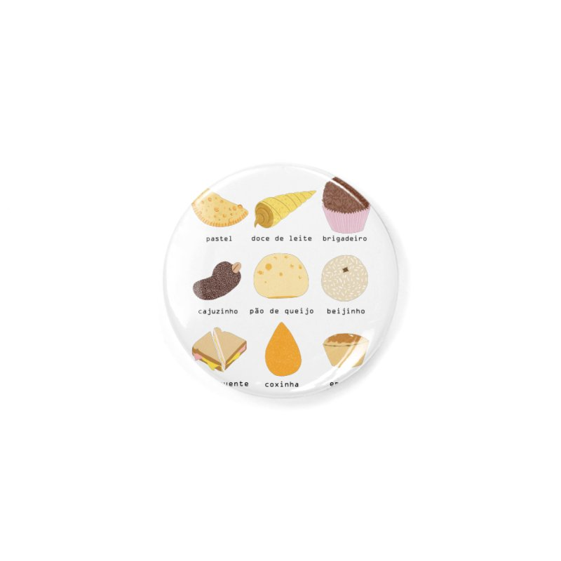 Brazilian snacks Accessories Button by Hello Siyi