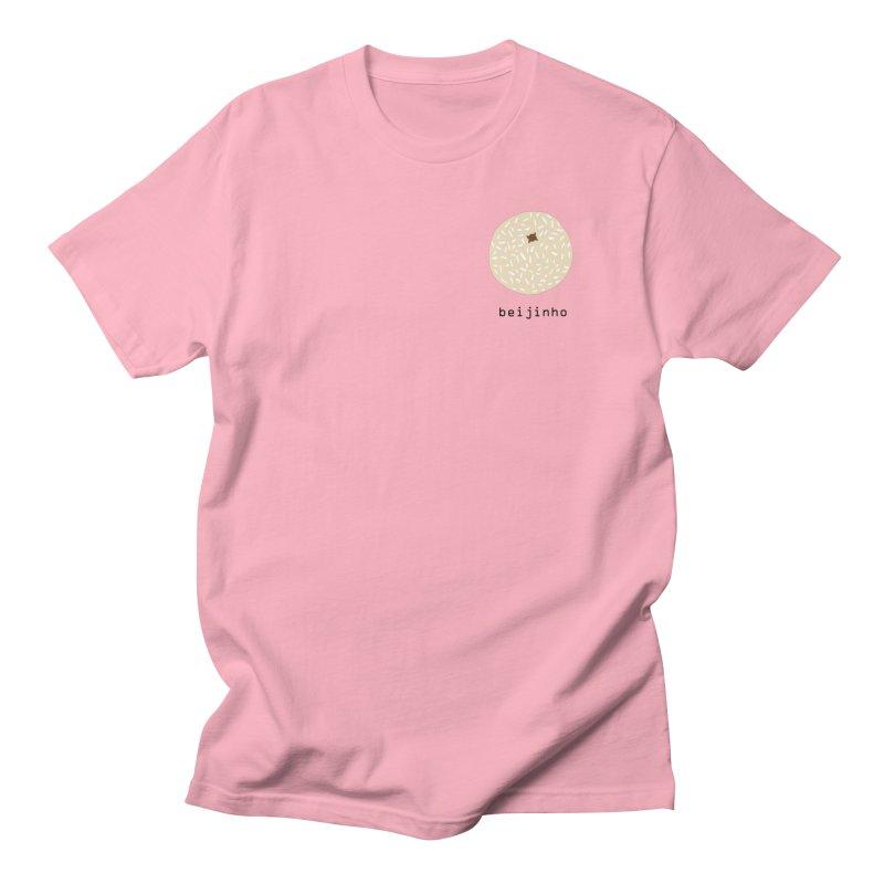 Beijinho - Brazilian snack (pocket) in Men's Regular T-Shirt Light Pink by Hello Siyi
