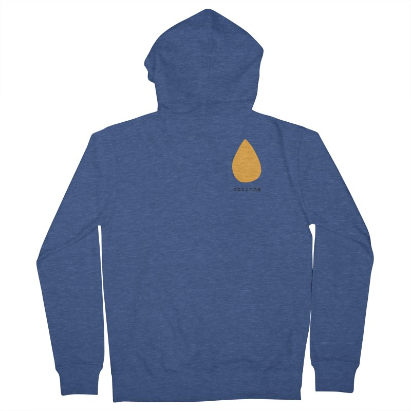 Coxinha - Brazilian snack (pocket) Men's French Terry Zip-Up Hoody by Hello Siyi