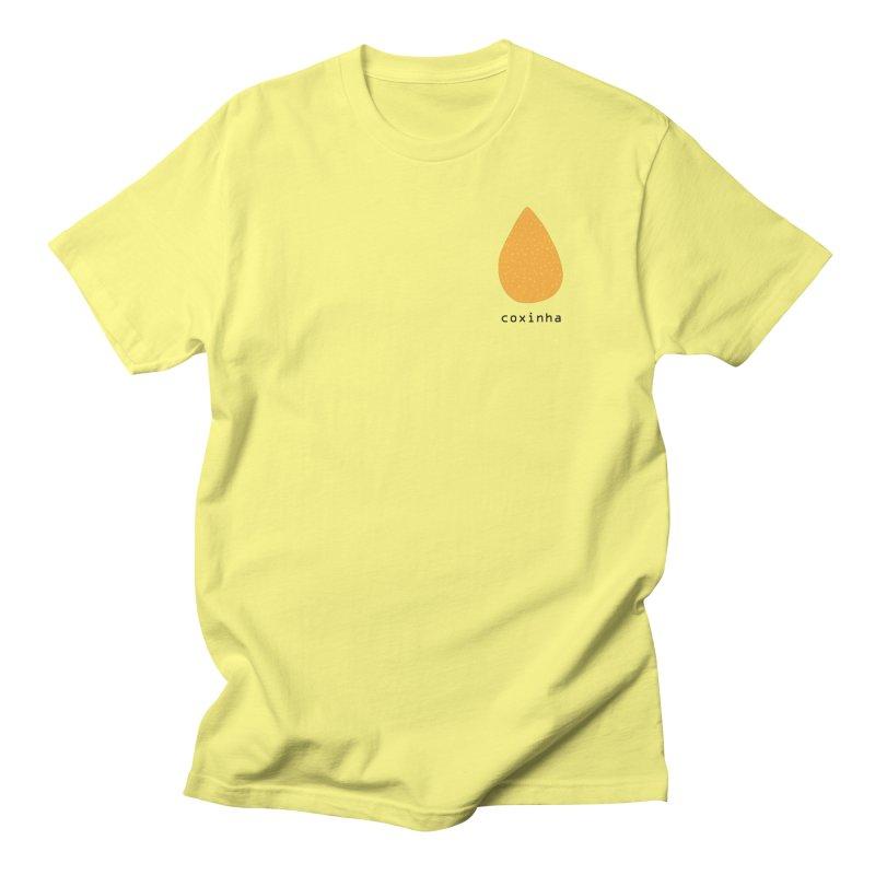 Coxinha - Brazilian snack (pocket) in Men's Regular T-Shirt Lemon by Hello Siyi