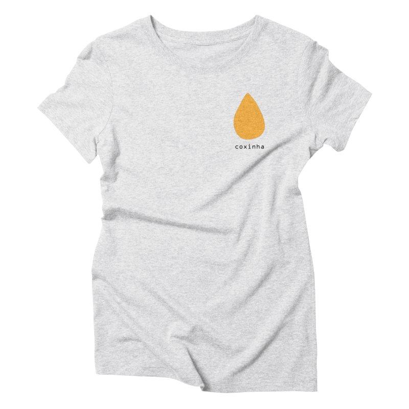Coxinha - Brazilian snack (pocket) Women's Triblend T-Shirt by Hello Siyi