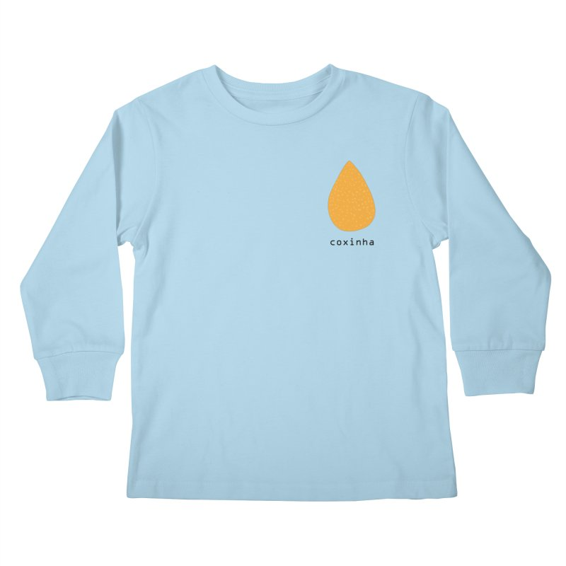 Coxinha - Brazilian snack (pocket) Kids Longsleeve T-Shirt by Hello Siyi