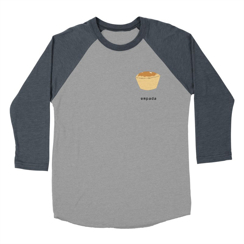 Empada - Brazilian snack (pocket) Men's Baseball Triblend Longsleeve T-Shirt by Hello Siyi