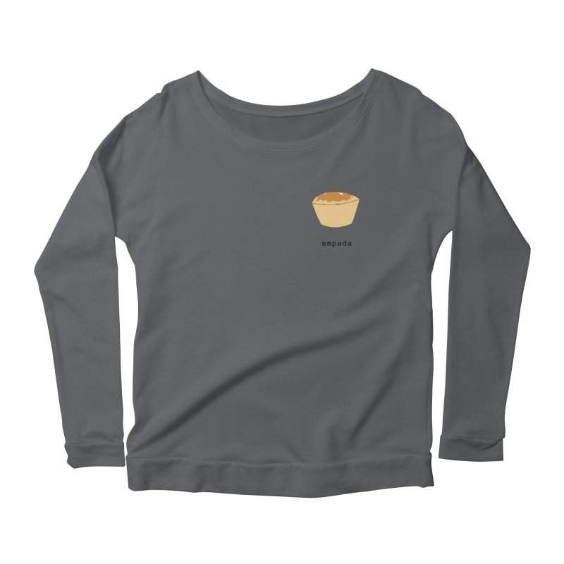 Empada - Brazilian snack (pocket) Women's Scoop Neck Longsleeve T-Shirt by Hello Siyi