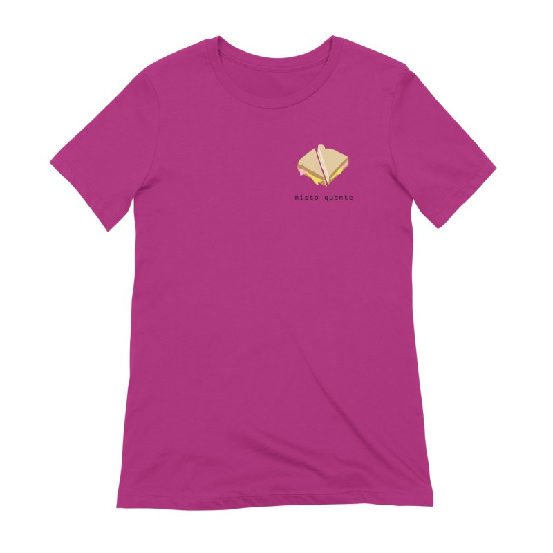 Misto quente - Brazilian snack (pocket) Women's Extra Soft T-Shirt by Hello Siyi