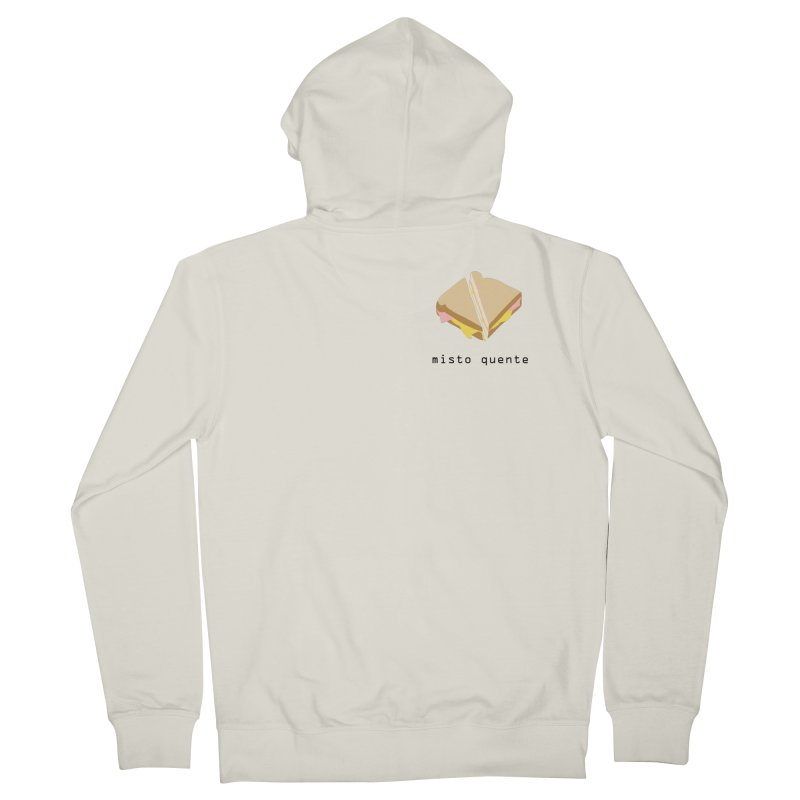 Misto quente - Brazilian snack (pocket) Men's French Terry Zip-Up Hoody by Hello Siyi