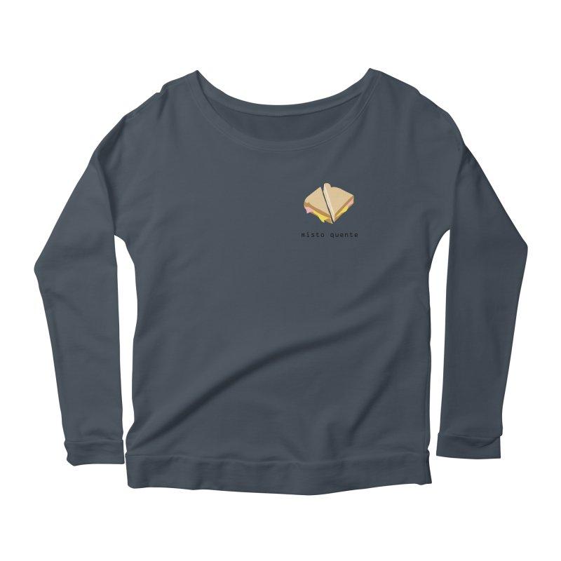 Misto quente - Brazilian snack (pocket) Women's Scoop Neck Longsleeve T-Shirt by Hello Siyi