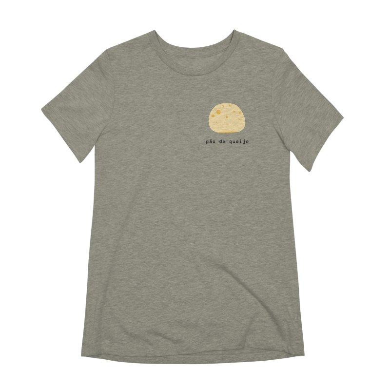 Pão de queijo - Brazilian snack (pocket) Women's Extra Soft T-Shirt by Hello Siyi