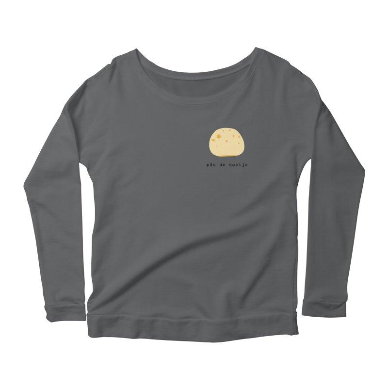 Pão de queijo - Brazilian snack (pocket) Women's Scoop Neck Longsleeve T-Shirt by Hello Siyi