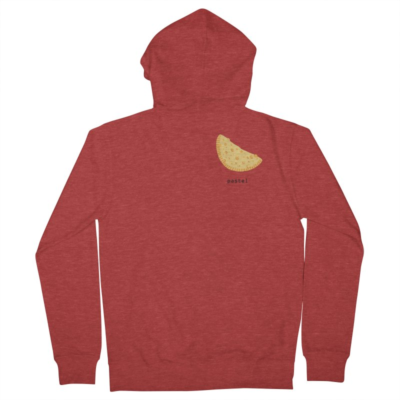 Pastel - Brazilian snack (pocket) Men's French Terry Zip-Up Hoody by Hello Siyi