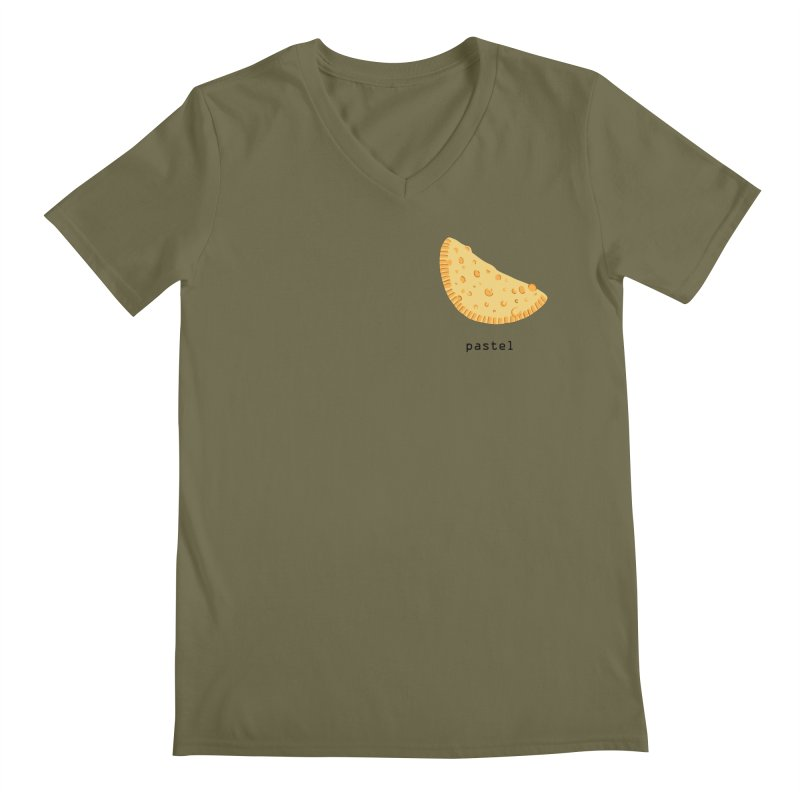 Pastel - Brazilian snack (pocket) Men's Regular V-Neck by Hello Siyi