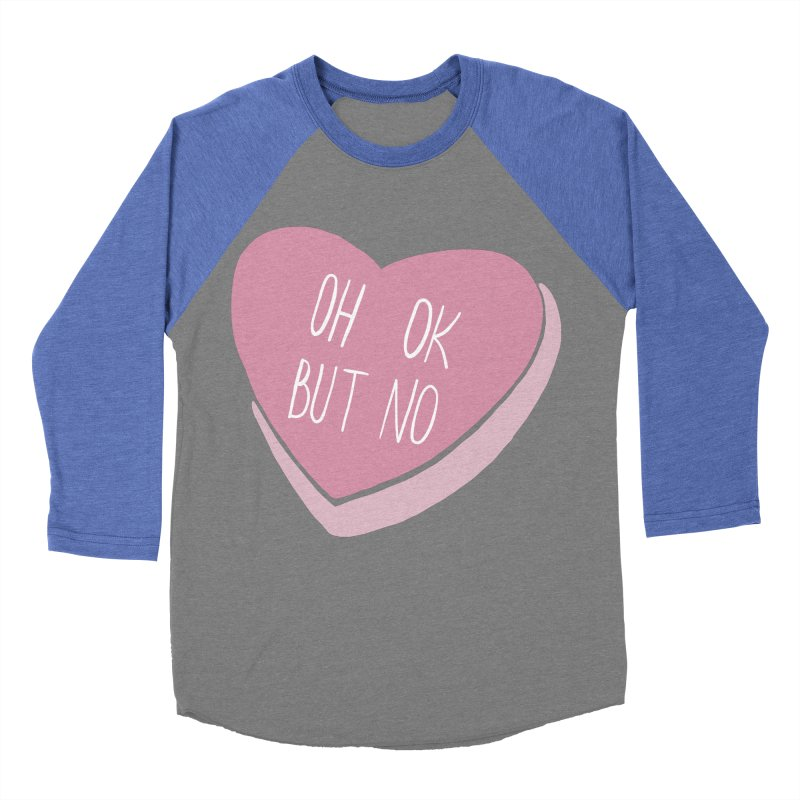 Oh ok, but no Men's Baseball Triblend Longsleeve T-Shirt by Hello Siyi