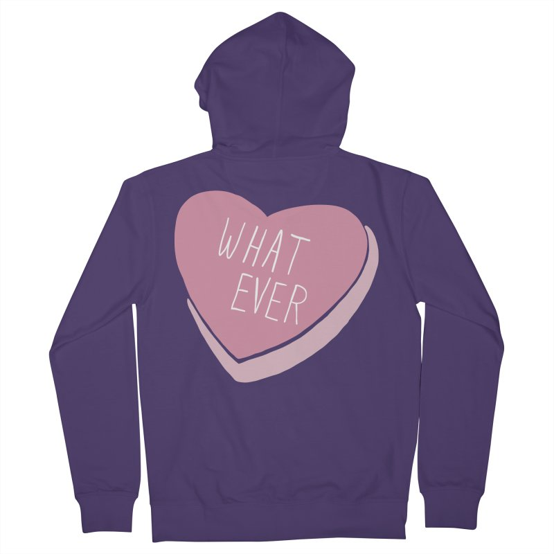 Whatever Women's French Terry Zip-Up Hoody by Hello Siyi