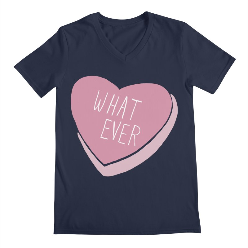 Whatever Men's Regular V-Neck by Hello Siyi