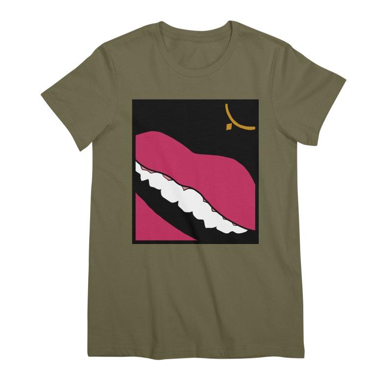 AHA lips Women's Premium T-Shirt by Hello Siyi